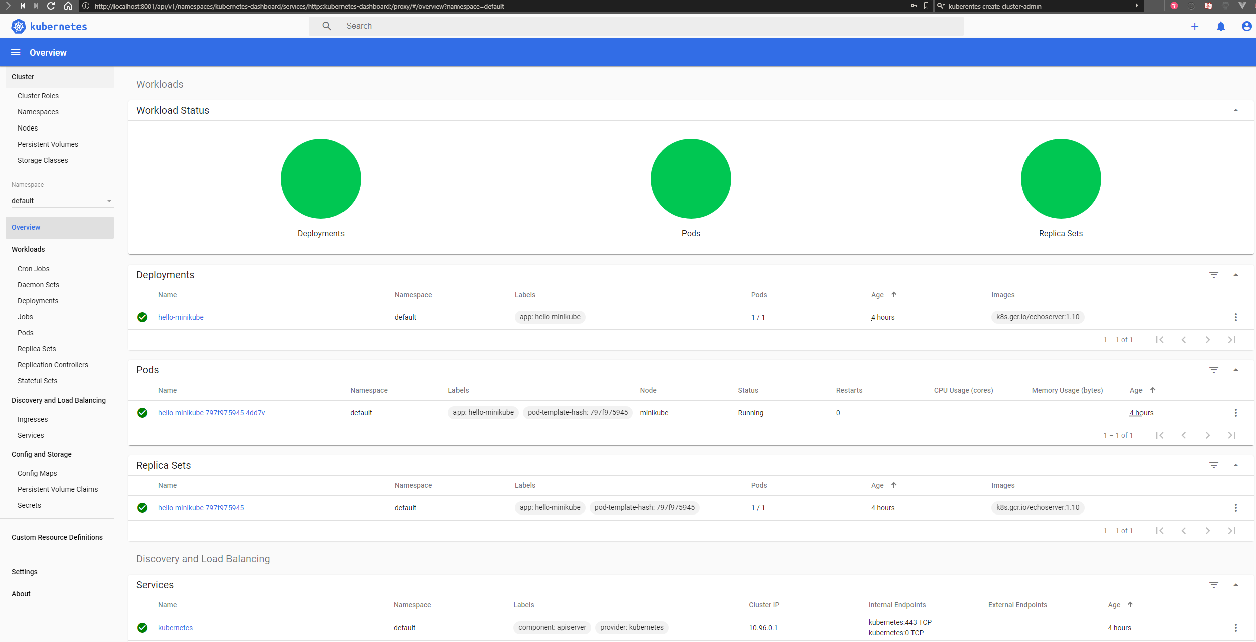 Create a Kubernetes (k8s) admin user